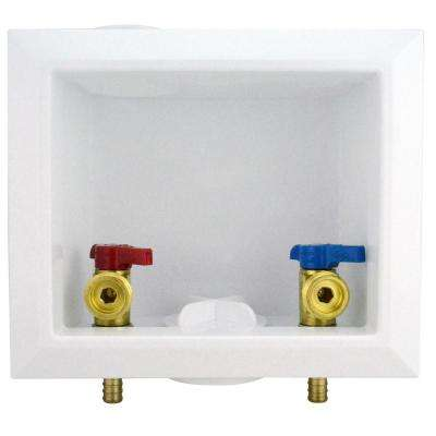 1/2 in. Brass PEX Barb Washing Machine Outlet Box