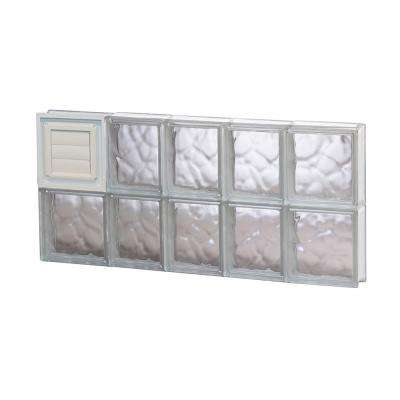 32.75 in. x 15.5 in. x 3.125 in. Frameless Wave Pattern Glass Block Window with Dryer Vent