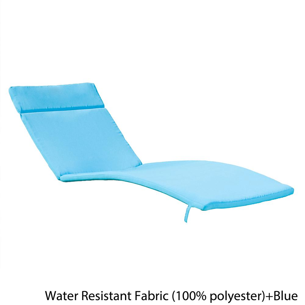 Noble House Salem Blue Deep Seating Outdoor Chaise Lounge ...