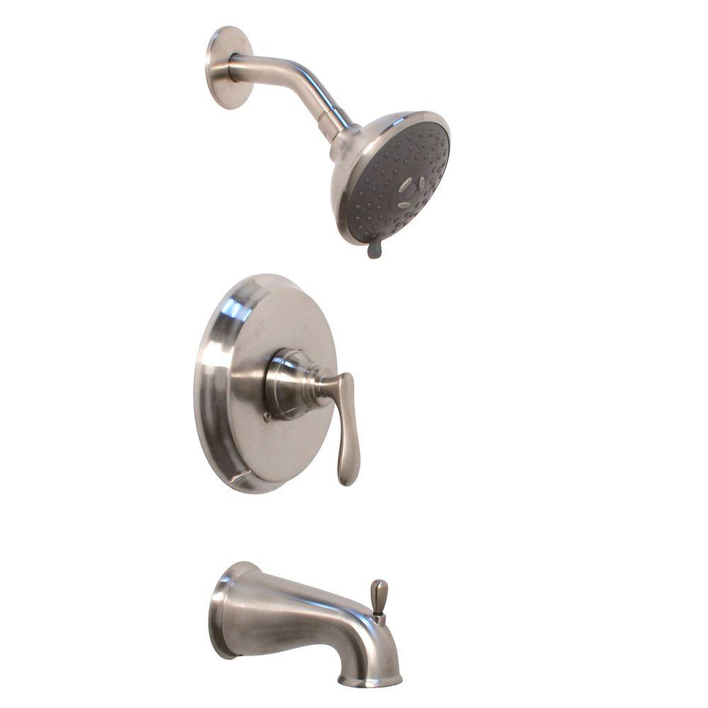 Fontaine Valentino Single-Handle Tub and Shower Faucet in Brushed Nickel-DISCONTINUED