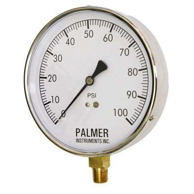 4.5 in. Dial 100 psi Stainless Steel Case Contractor Gauge