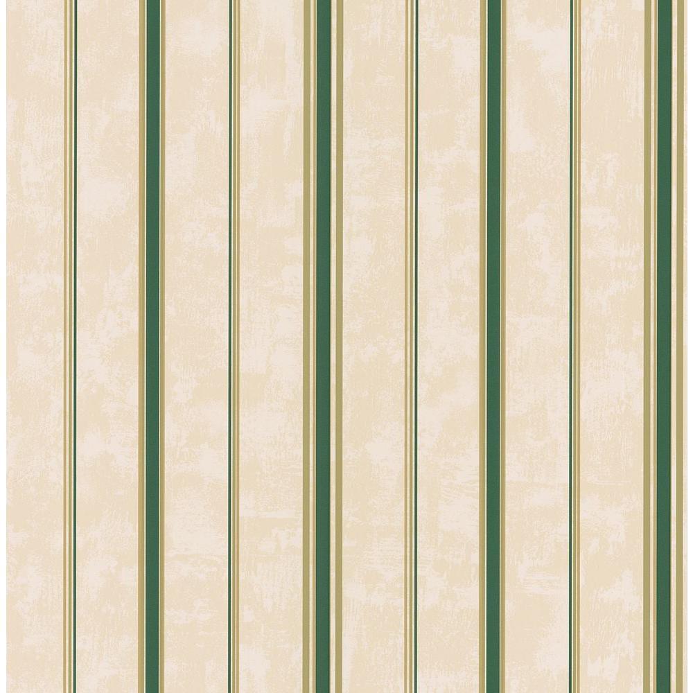 Brewster 56 sq. ft. Multi-Stripe Wallpaper