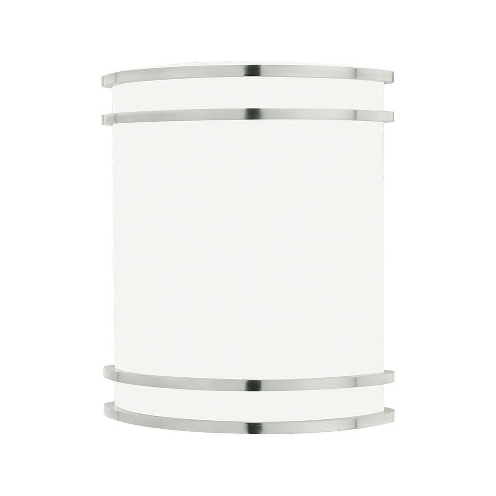Parallel 1-Light Brushed Nickel Sconce