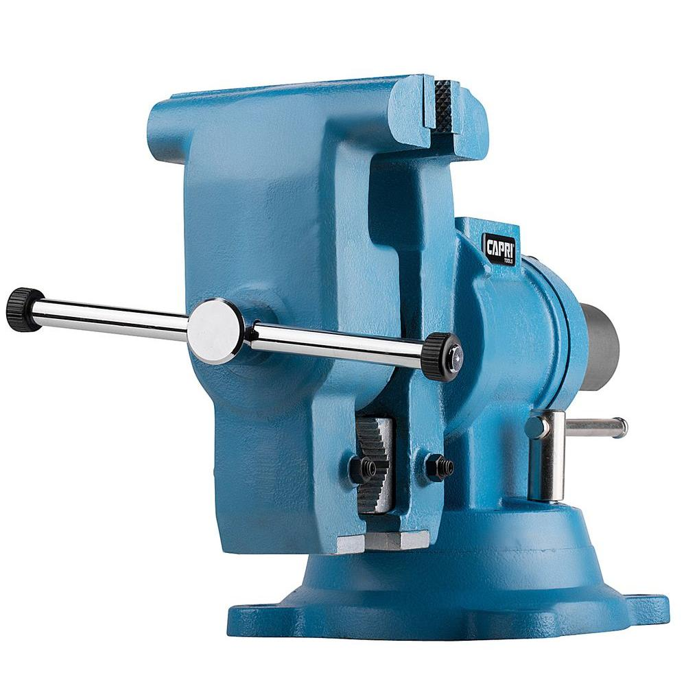 capri tools 5 in. rotating base and head bench vise-cp10518 - the