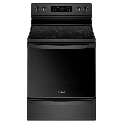 6.4 cu. ft. Electric Range in Black with Frozen Bake Technology