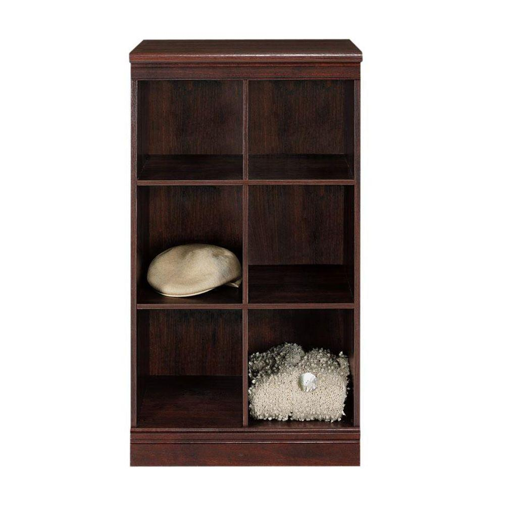 Home Decorators Collection 40 in. H x 21 in. W Cherry 6-Cube Storage Modular