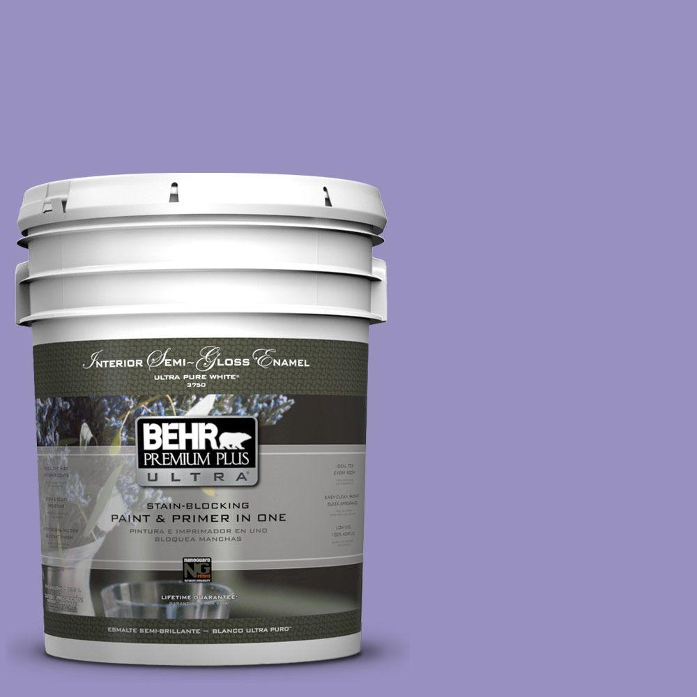 BEHR Premium Plus Ultra 5-gal. #PPU16-5 Lily of the Nile Semi-Gloss Enamel Interior Paint