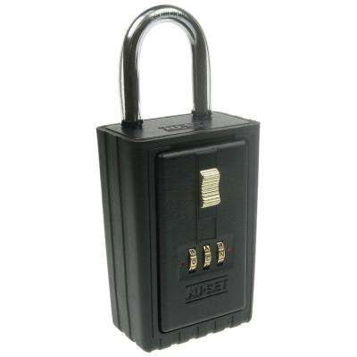 3 Letter Alpha Combination Lock Box with Self Scrambling Dials