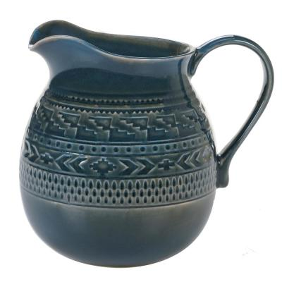 Multi-Colored 80 oz. Aztec Teal Pitcher