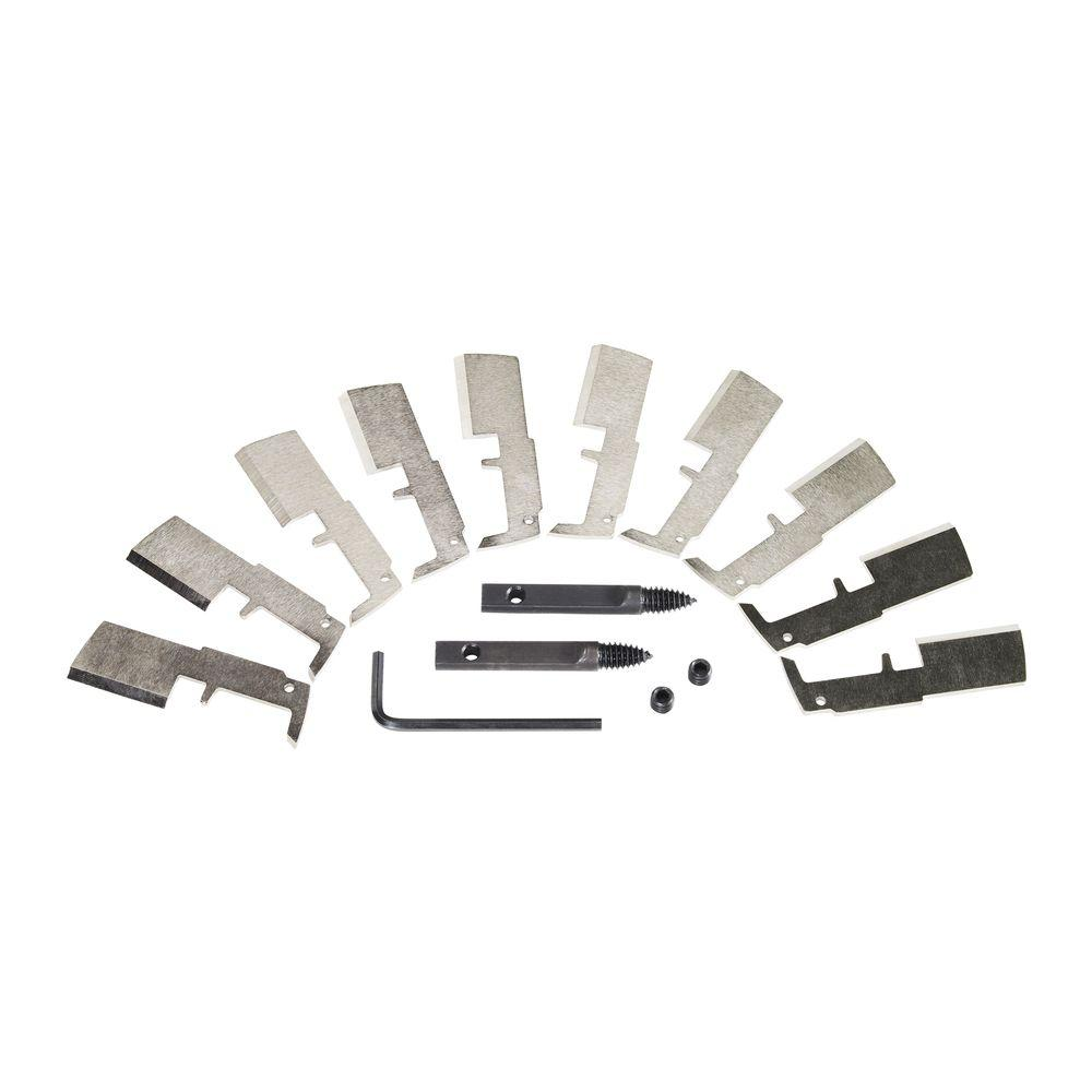 Milwaukee 1-3//8 in Switchblade High-Speed Steel Blade Replacement Kit 10 Blades