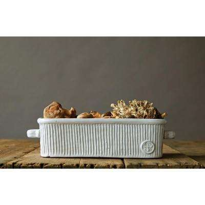 17.50 in. L Decorative Bowl in Terra Cotta with White Bee