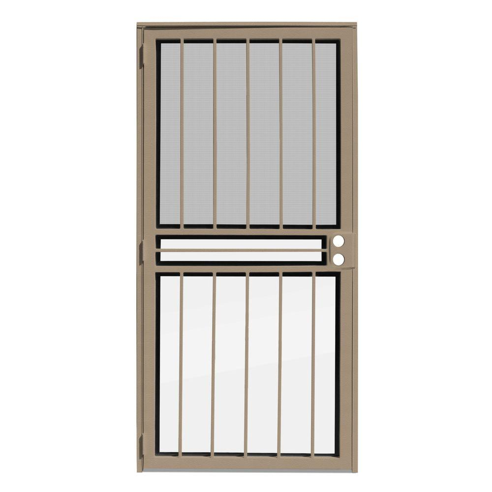 Unique Home Designs 36 in. x 80 in. Paladin Tan Recessed Mount All ...