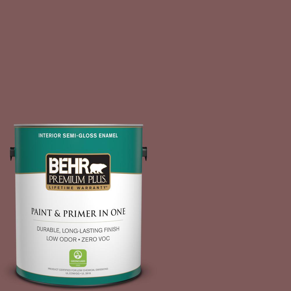 1-gal. #140F-6 Book Binder Zero VOC Semi-Gloss Enamel Interior Paint