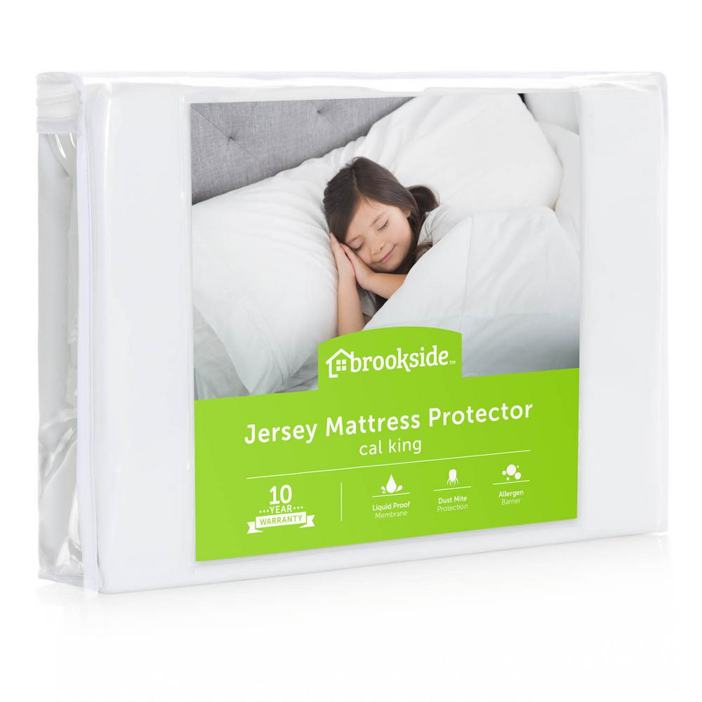 Brookside Brookside Soft Jersey Mattress Protector - Waterproof and Dust Mite Proof - California King, White