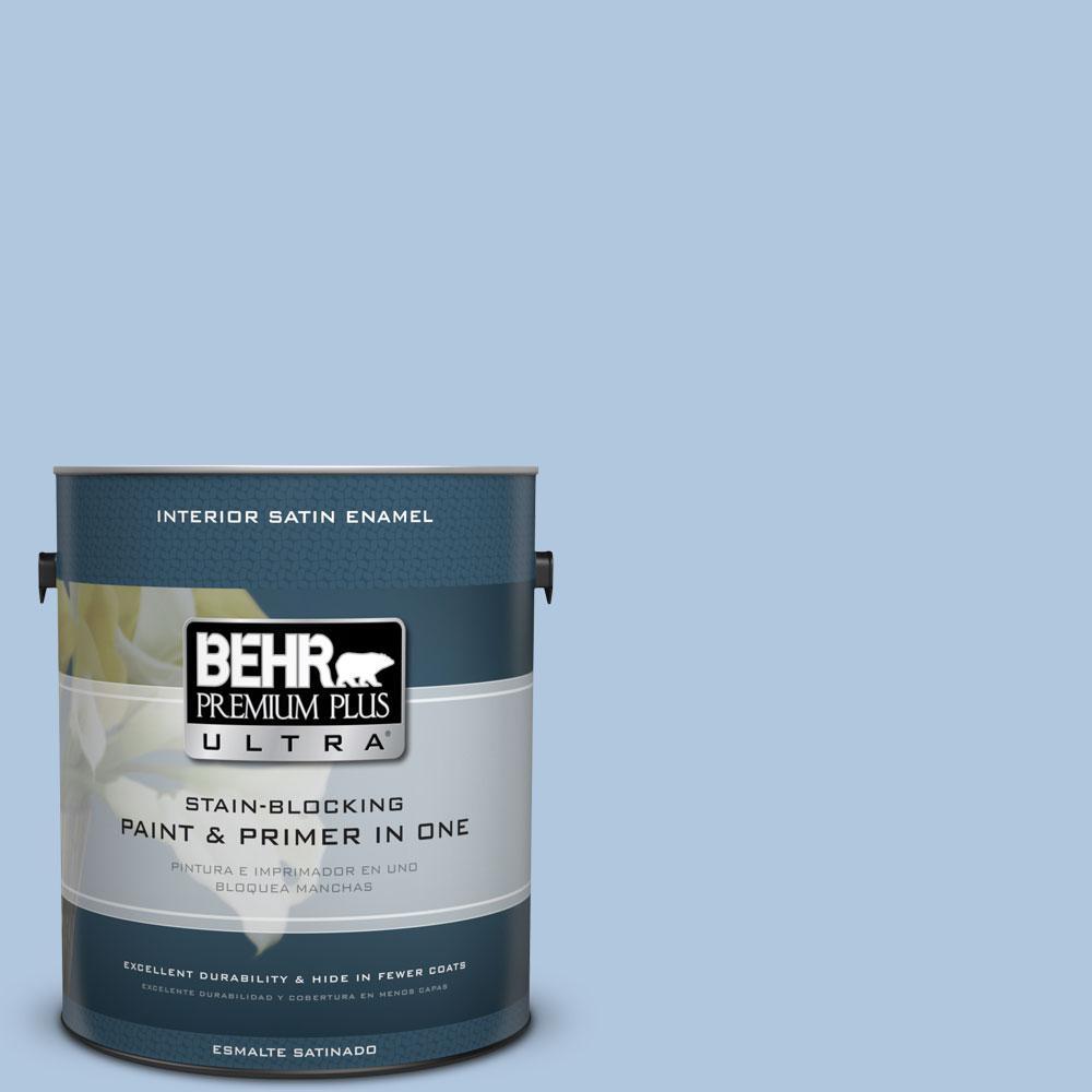 BEHR Premium Plus Ultra 1-gal. #M510-2 Life at Sea Satin Enamel Interior Paint