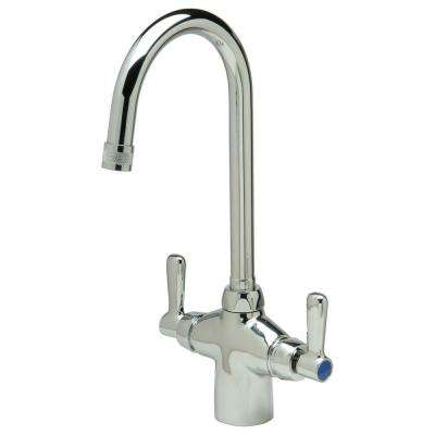 Single Hole 2-Handle Bathroom Faucet in Chrome