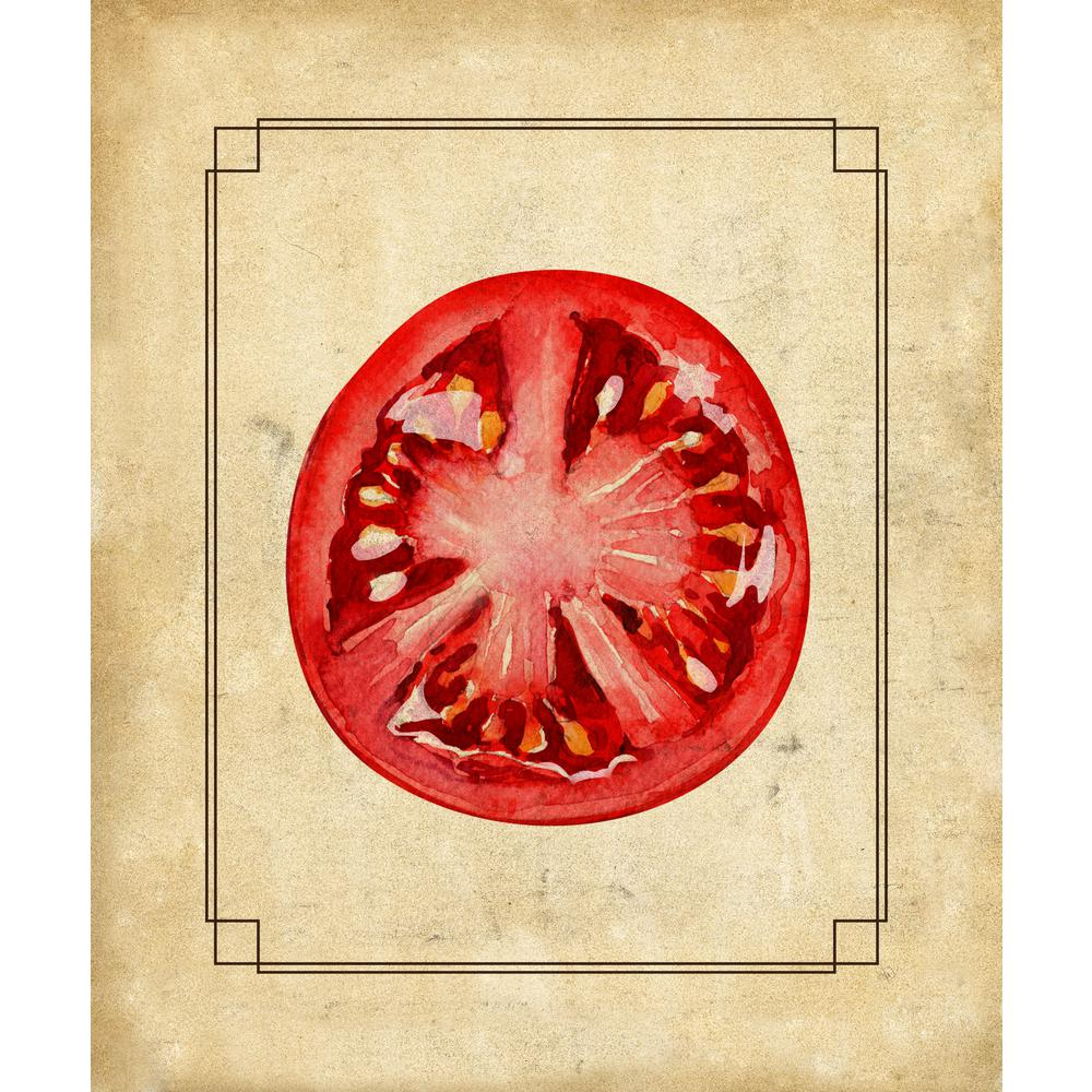 Creative Gallery 20 in. x 24 in. Tomato Slice Wrapped Canvas Wall ...