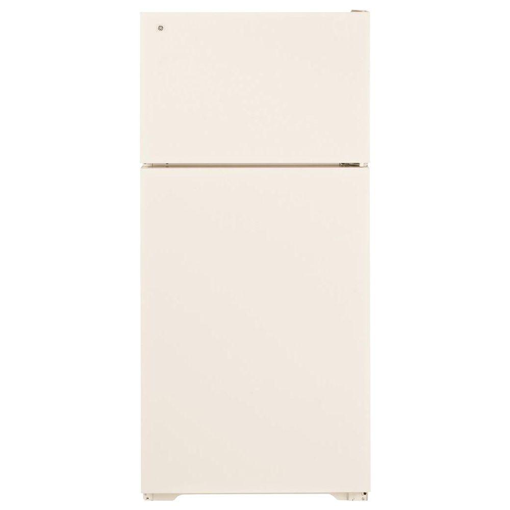 GE 28 in. W 16.5 cu. ft. Top Freezer Refrigerator in Bisque, Energy Star