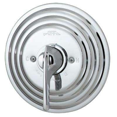 Temptrol Commercial 1-Handle Pressure Balance Shower Valve with Stops in Chrome