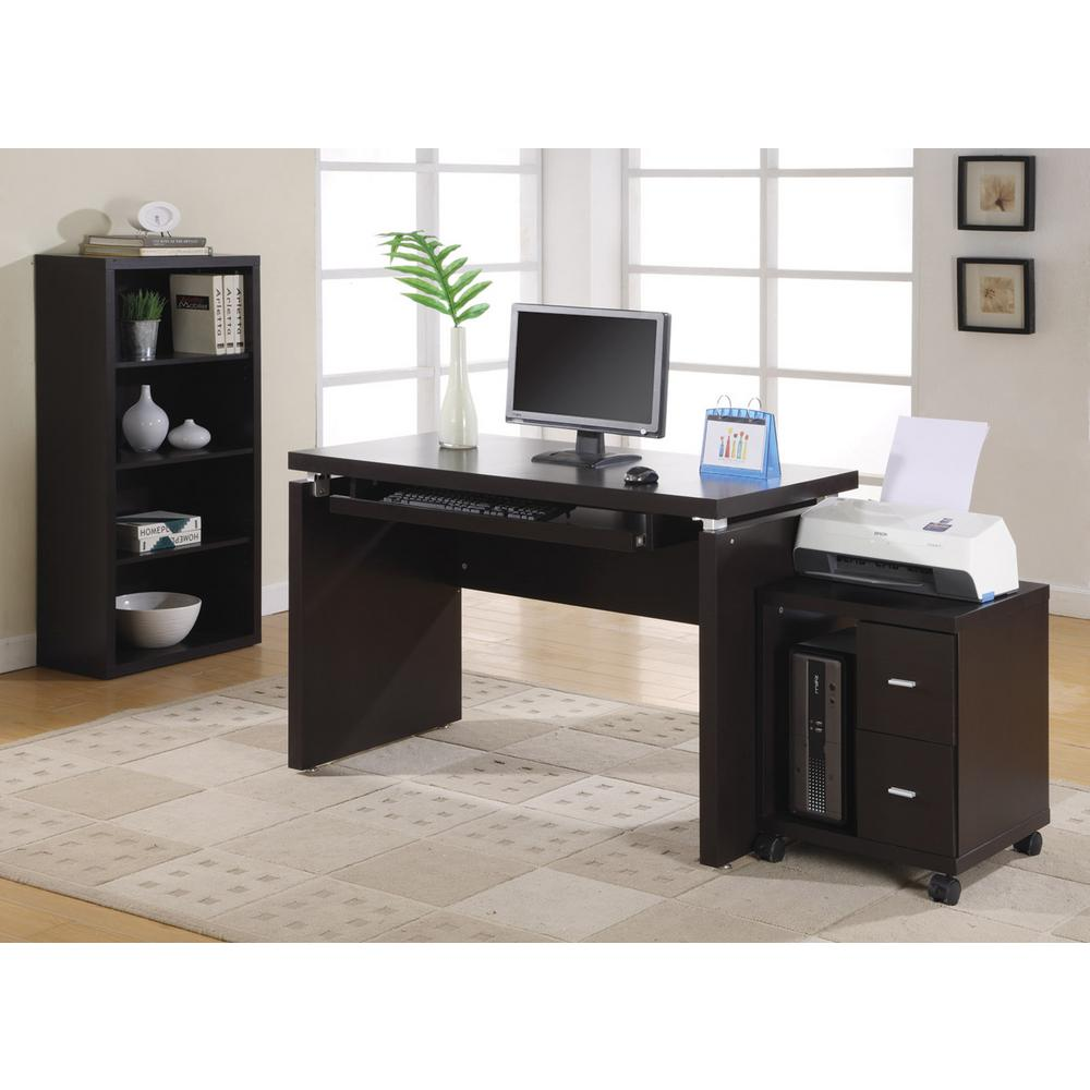 monarch specialties cappuccino desk with keyboard tray i 7003 the home depot. Black Bedroom Furniture Sets. Home Design Ideas