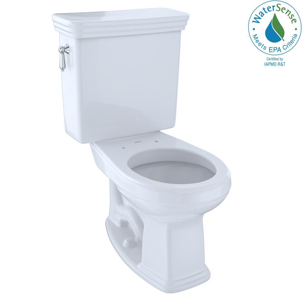 TOTO Promenade 2-Piece 1.28 GPF Single Flush Round Toilet in Cotton ...