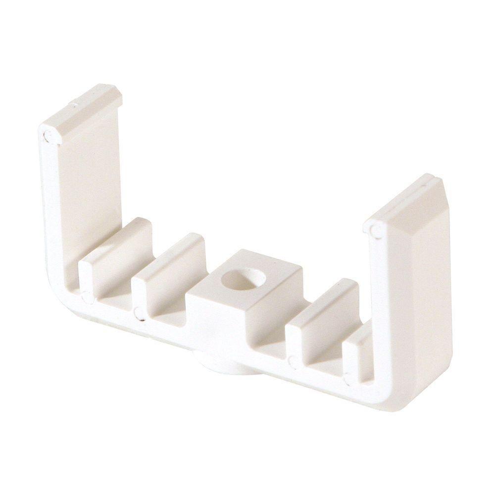 SnapFence White Modular Vinyl Fence Rail Clip (100-Box)-VFW-1-B100 ...