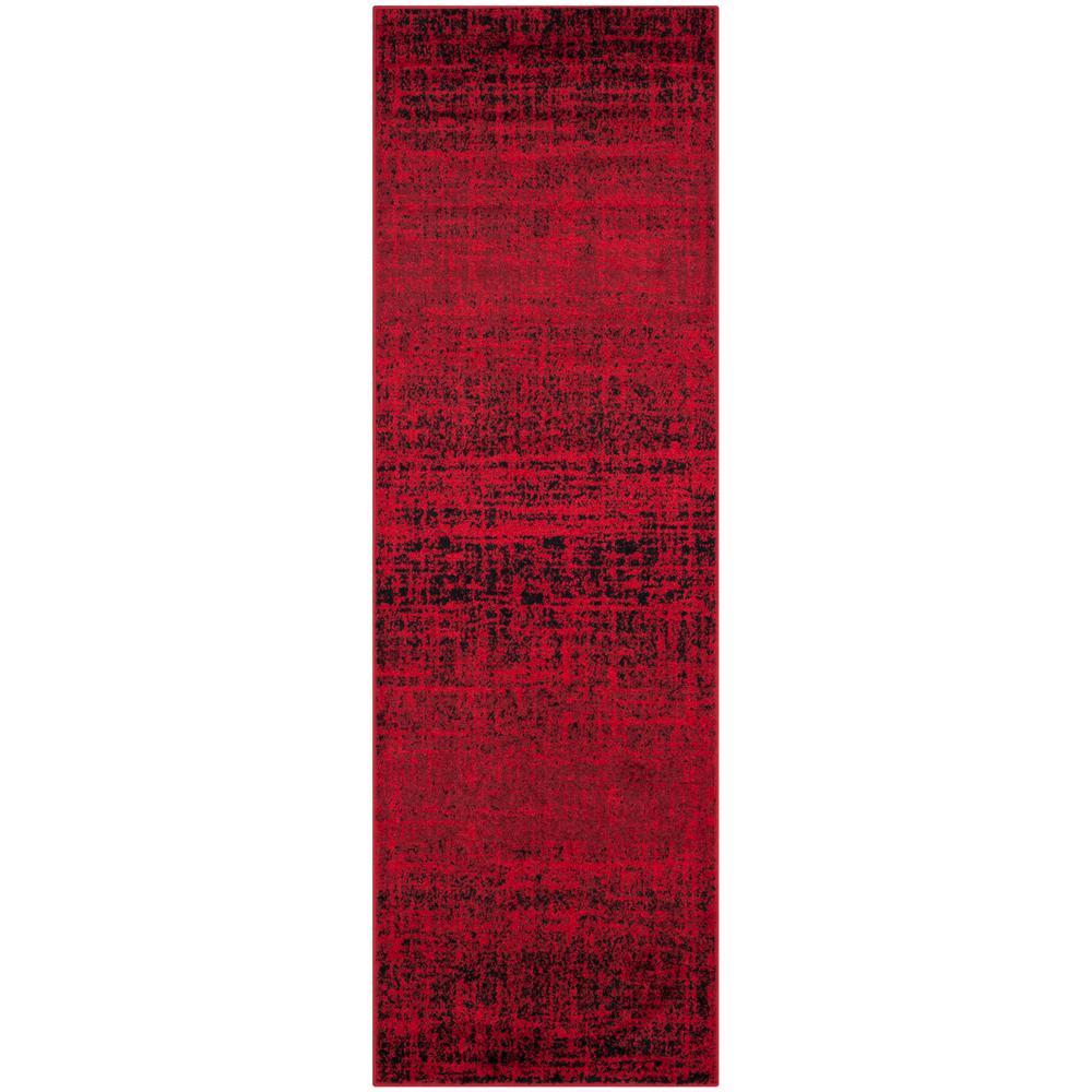 Adirondack Red/Black 3 ft. x 10 ft. Runner Rug