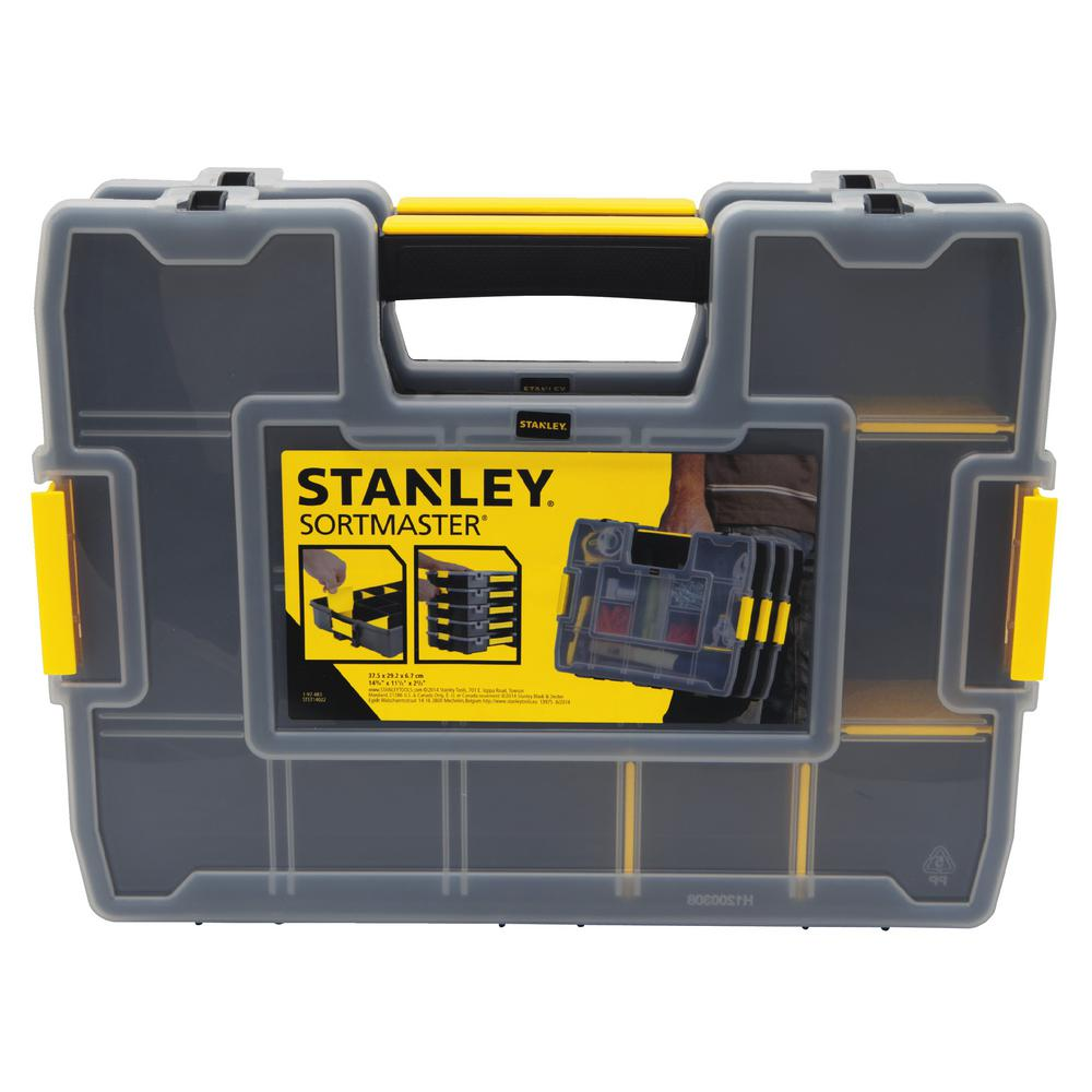 Stanley SortMaster Junior 14-Compartment Small Parts Organizer