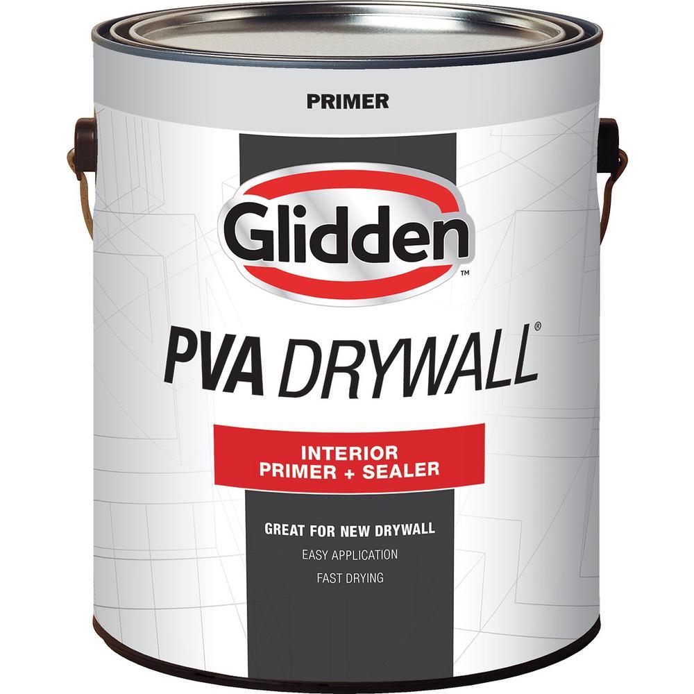 Glidden Pva 1 Gal Pva Drywall Interior Primer Gpd 0000 01 The Home Depot