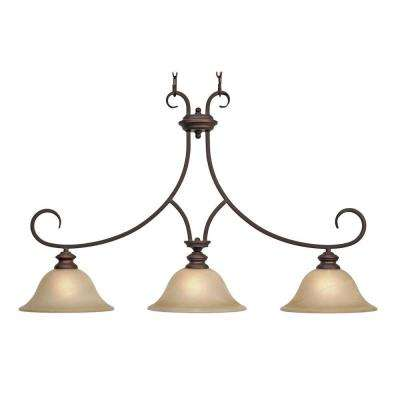 Lancaster Collection 3-Light Bronze Island Pendant