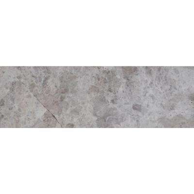 Tundra Gray 4 in. x 12 in. Polished Marble Floor and Wall Tile (5 sq. ft. / case)