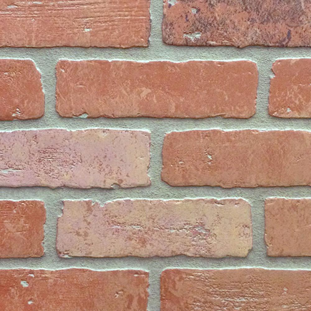 1 4 In X 48 In X 96 In Hdf Kingston Brick Panel Kingston The Home Depot