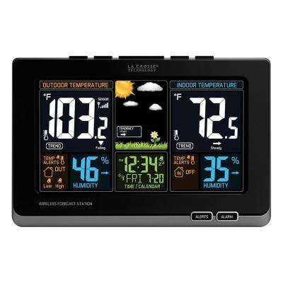 Wireless Color Forecast Station in Black