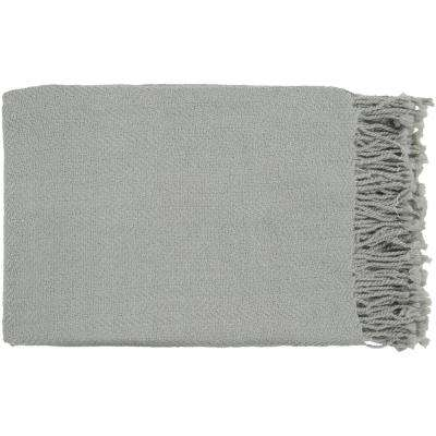 Simone Light Gray Acrylic Throw