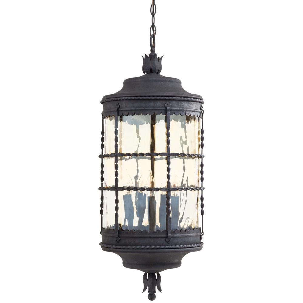 Mallorca Spanish Iron 5-Light Outdoor Chain Hung