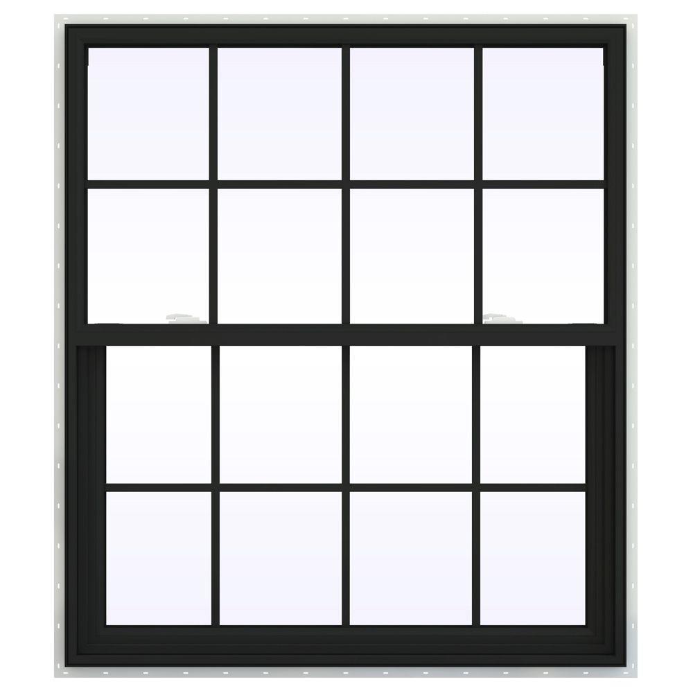 41.5 in. x 47.5 in. V-2500 Series Single Hung Vinyl Window