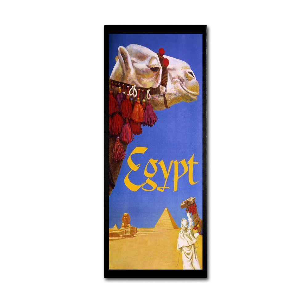 Trademark Fine Art 19 in. x 10 in. Egypt Camel Canvas Art