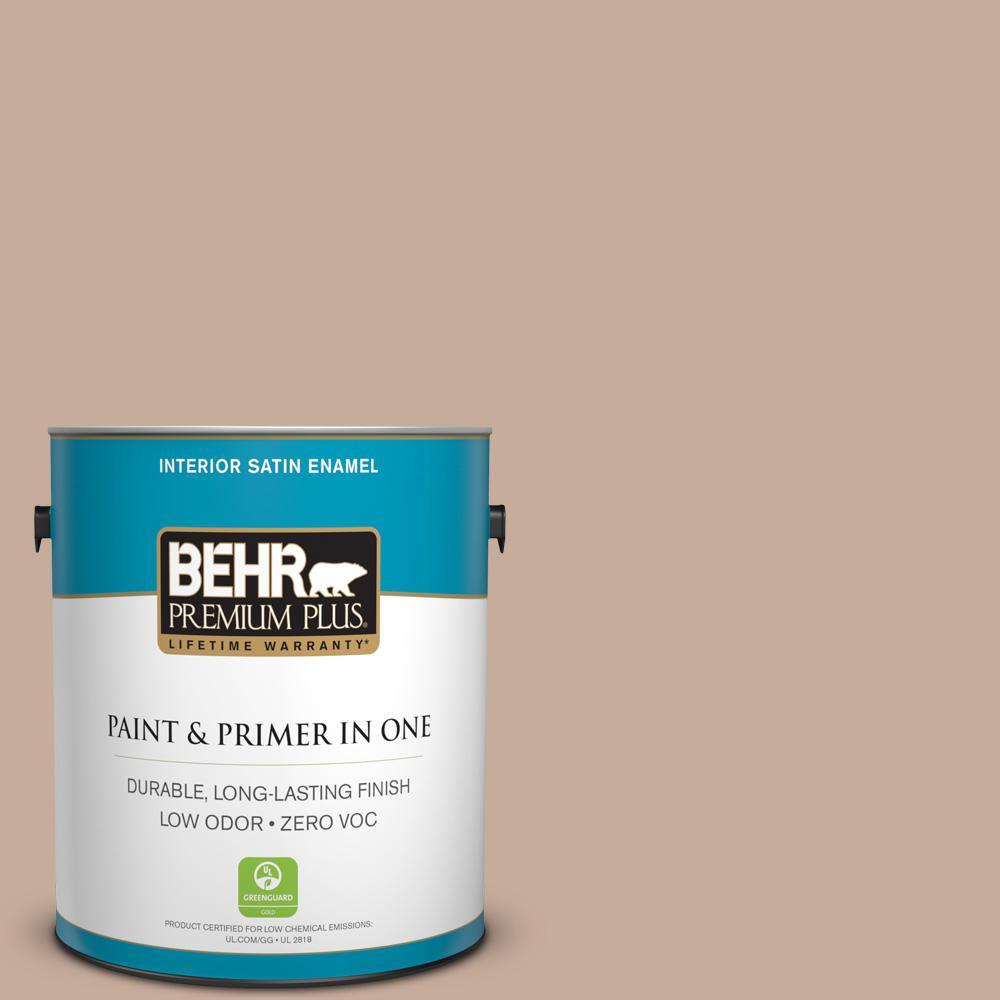 1-gal. #ECC-57-1 California Stucco Zero VOC Satin Enamel Interior Paint