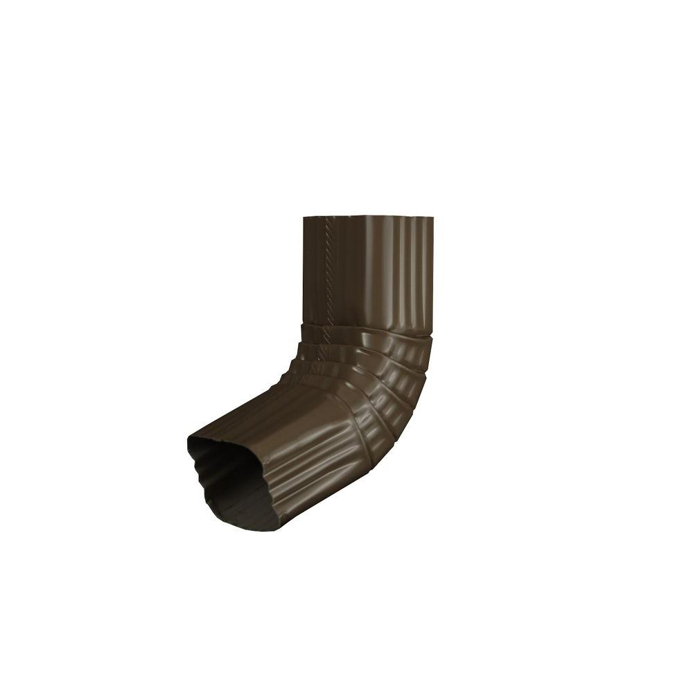3 in. x 4 in. Terra Bronze Aluminum Downspout A Elbow