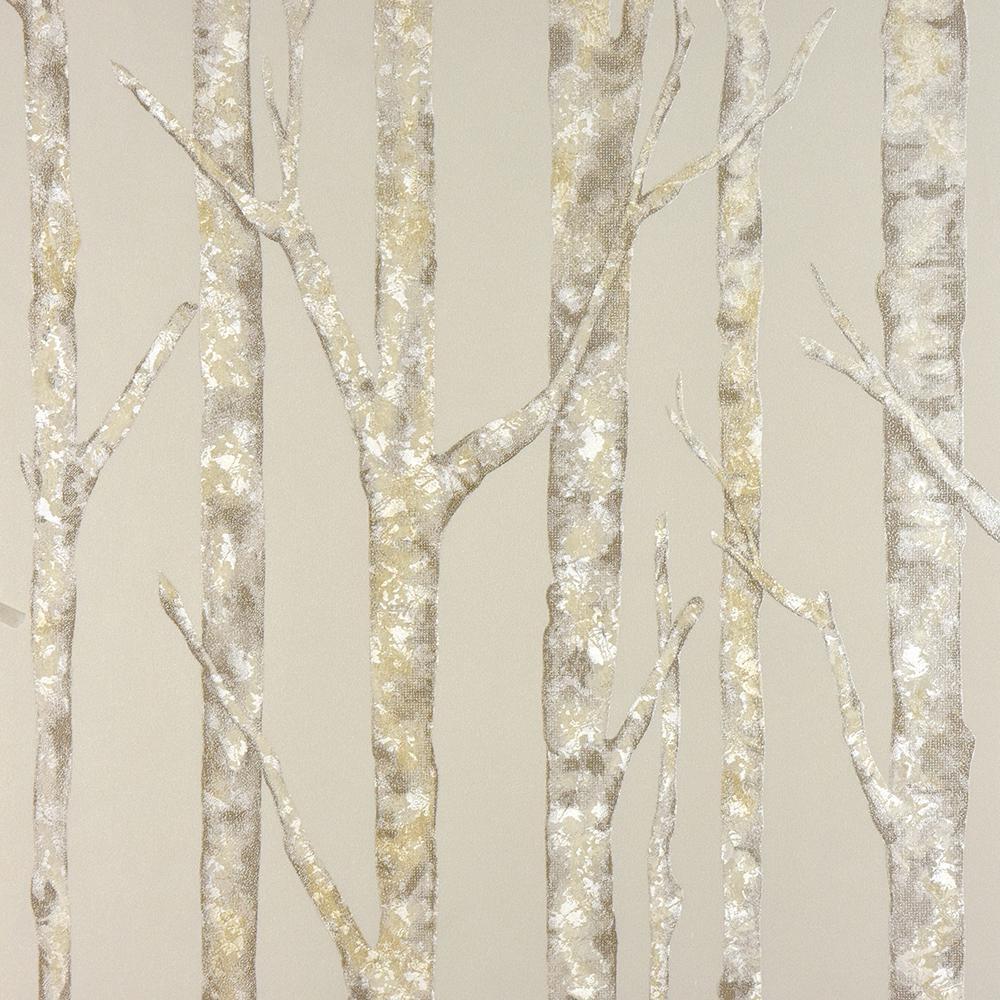 Advantage Advantage 57.8 sq. ft. Cameron Beige Trees Wallpaper