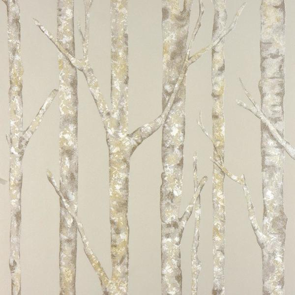 Advantage 8 in. x 10 in. Cameron Beige Trees Wallpaper Sample