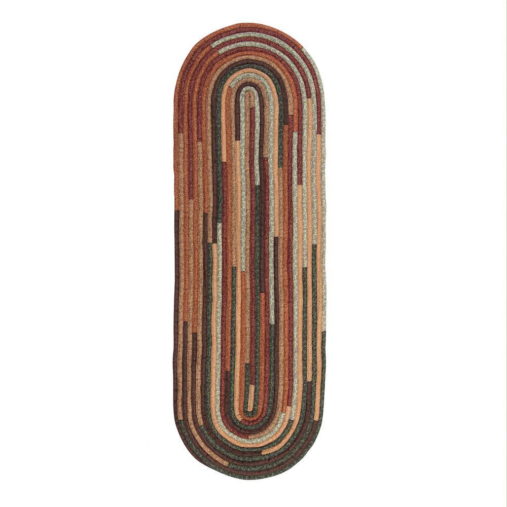 Riley Cabin Blend 2 ft. x 10 ft. Braided Runner Rug