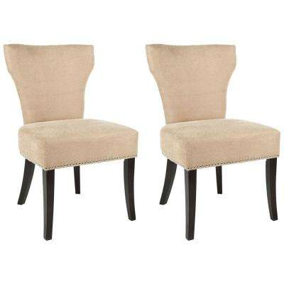 Jappic Wheat/Espresso Cotton Blend Side Chair (Set of 2)