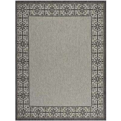 Country Side Ivory/Charcoal 10 ft. x 13 ft. Indoor/Outdoor Area Rug
