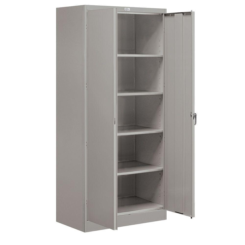 36 in. W x 78 in. H x 18 in. D Standard Storage Cabinet Assembled in Gray