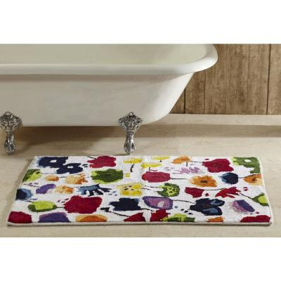 Picasso Collection Multi 24 in. x 36 in. Cotton Bath Rug