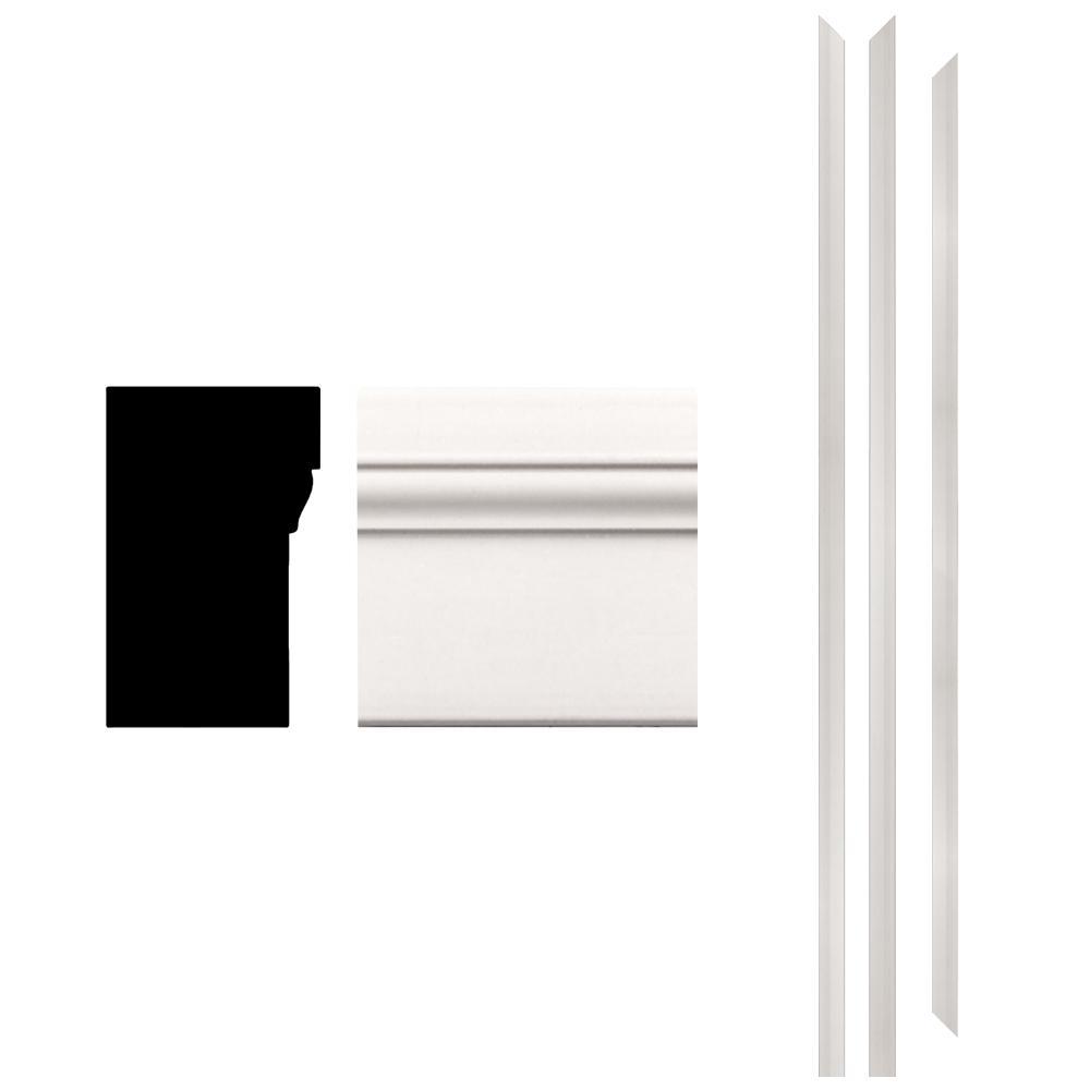 4Ever Frame 180 1-1/4 in. x 2 in. x 83-1/2 in. Primed Composite Patio Brickmould Kit (3-Piece)