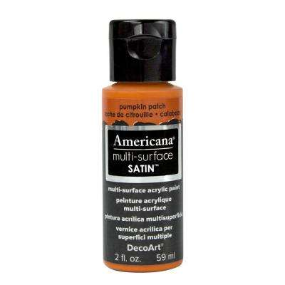 Americana 2 oz. Pumpkin Patch Satin Multi-Surface Acrylic Paint