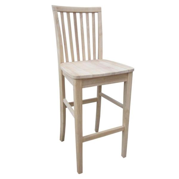 International Concepts 30 in. Unfinished Wood Bar Stool 265-30