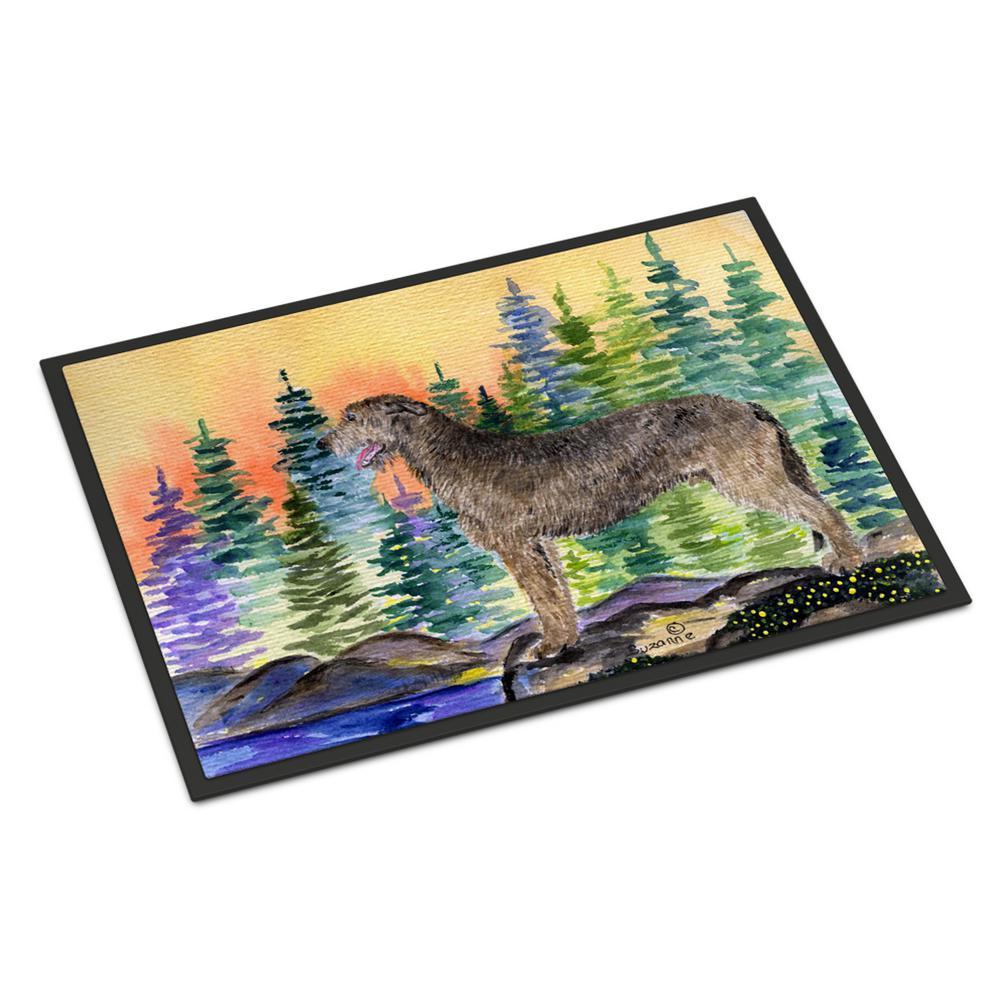 18 in. x 27 in. Indoor/Outdoor Irish Wolfhound Indoor Outdoor Mat